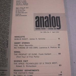 Analog, Avril 1965