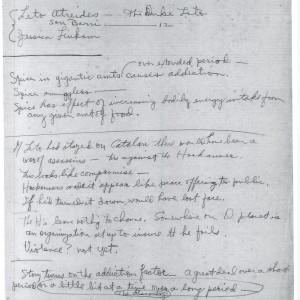 Fullerton manuscript